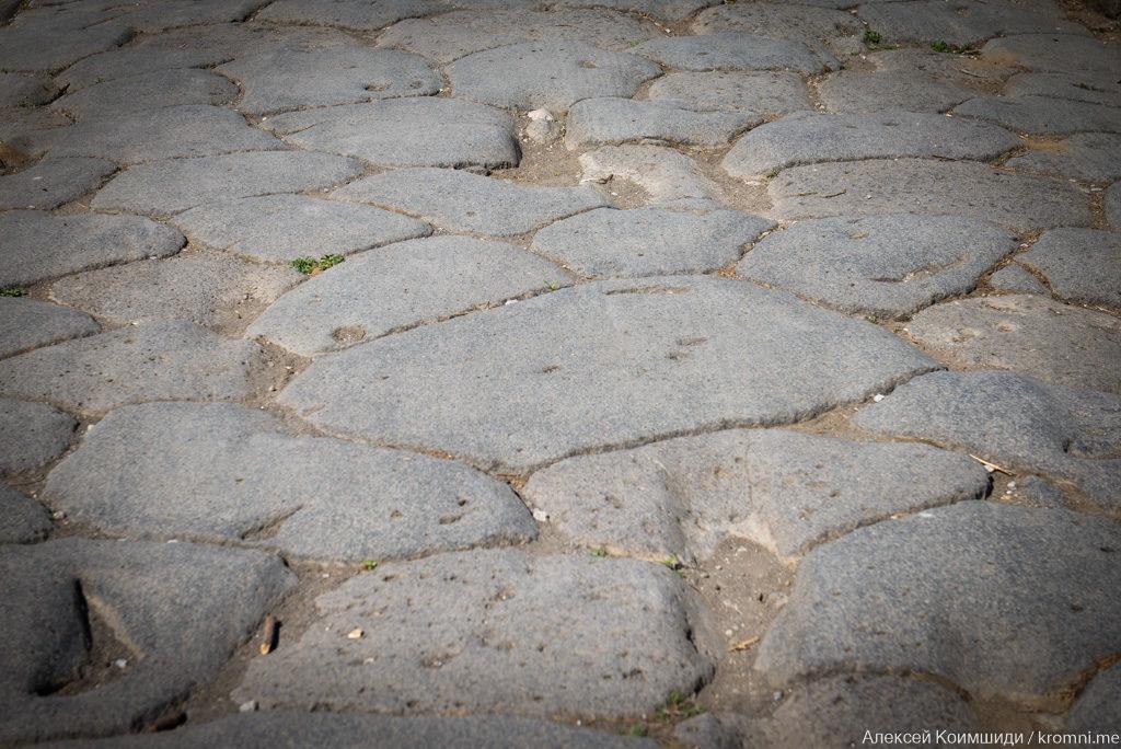 Индивидуальная экскурсия по Древним Помпеям. Мостовая