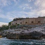 Форт Мамула. Батарея с моря.