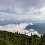 Облака в каньоне Сушицы