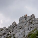 Опасная тропа между вершинами Меджеда