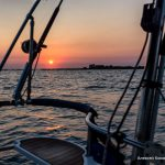 Рассвет на яхте